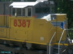 UP 8387 Engineer's Side Cab Detail